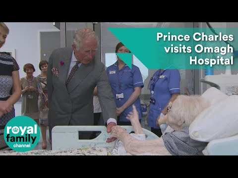 Prince Charles visits Omagh Hospital in Northern Ireland