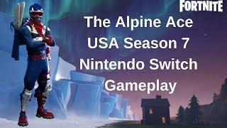 Alpine Ace USA Skin Fortnite Nintendo switch Gameplay
