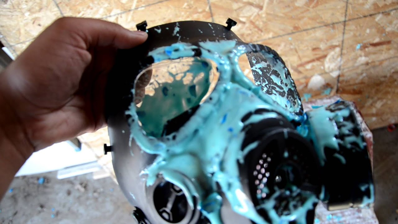 M04 DUMMY PAINTBALLAIRSOFT GAS MASK WITH FAN Test Part 2