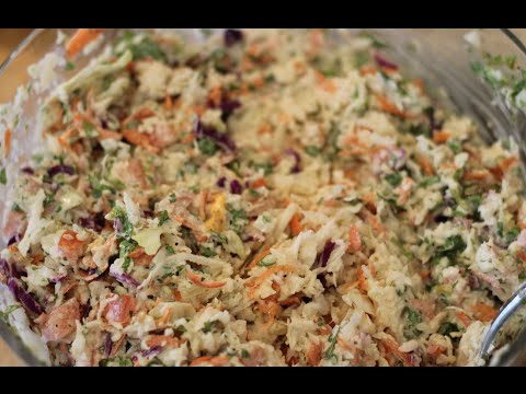 Cabbage Slaw For Fish TACOS // Repollo Para Tacos De Pescado