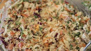 Cabbage Slaw For Fish Tacos // Repollo Para Tacos De Pescado