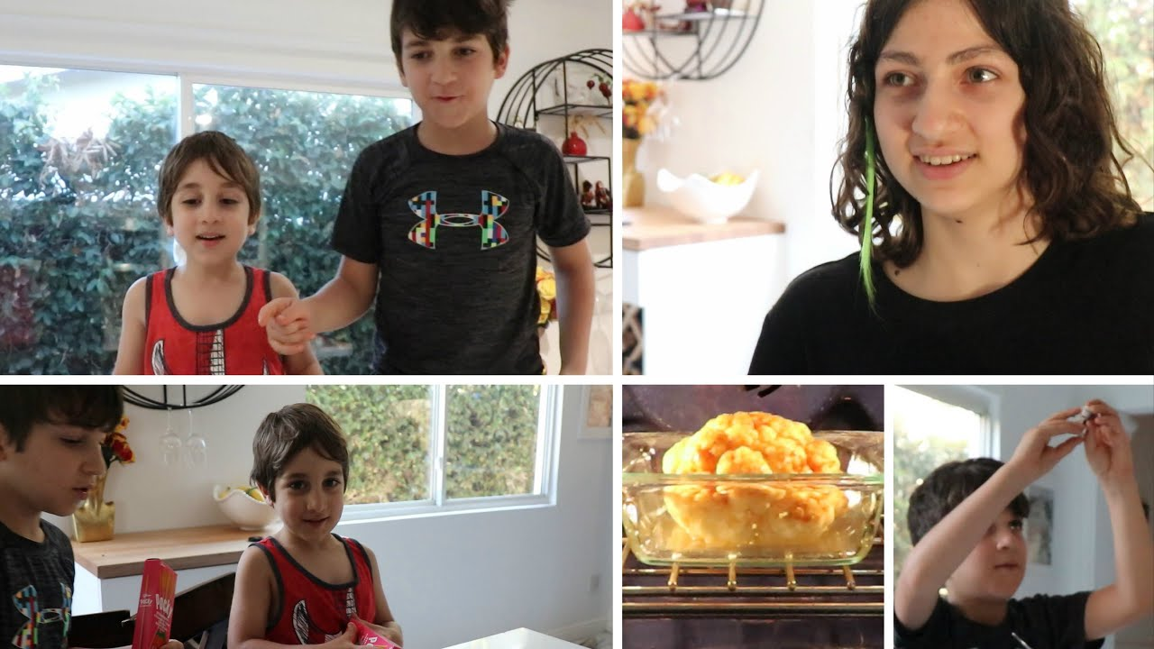 Preparing Snacks For Our Movie Night - Lilyth's Cauliflower Dinner - Heghineh Family Vlogs