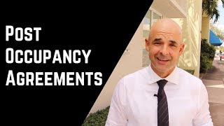 Real Estate Post Occupancy Agreement