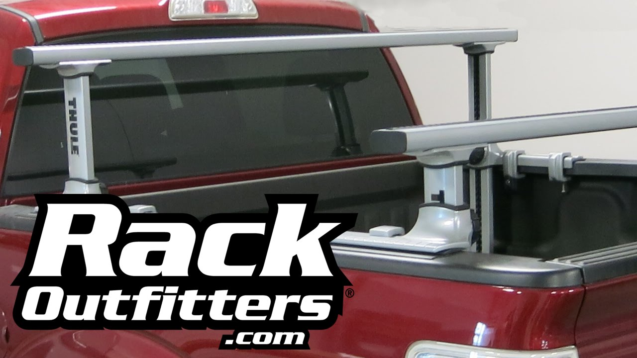 Thule 500xt xsporter pro bed rack for ford f 150 super crew cab pickup trucks by rack outfitters youtube