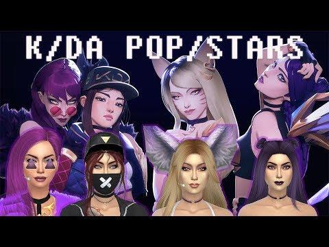 The Sims 4: CAS ~ KDA League Of Legends ~ Ahri/Evelynn/Akali/Kai'Sa   CC Linked
