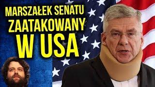 Polski Marszałek Senatu Zaatakowany w USA - Komentator