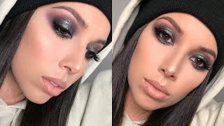GREEN SPARKLY SMOKEY EYE | LUSTRELUX
