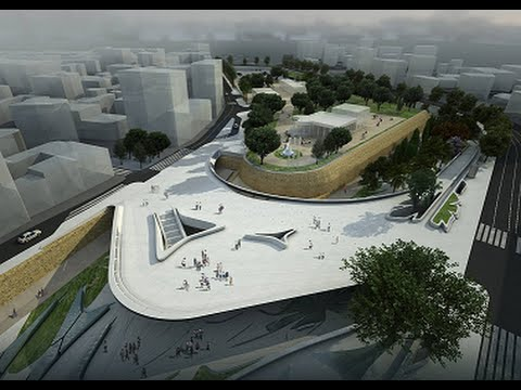 Eleftheria Square by Zaha Hadid in Nicosia, Cyprus