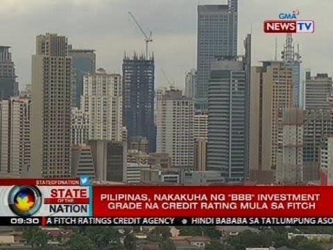 """Pilipinas, nakakuha ng """"BBB"""" investment grade na credit rating mula sa Fitch"""