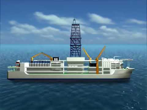 "The process of deep sea drilling vessel ""CHIKYU"""