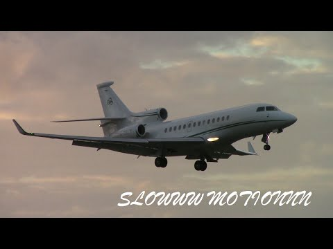 Aviation in Slow Motion: Private Jet - Dassault Falcon 7x