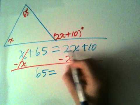 How to find the exterior angle measure find the variable How do you work out exterior angles