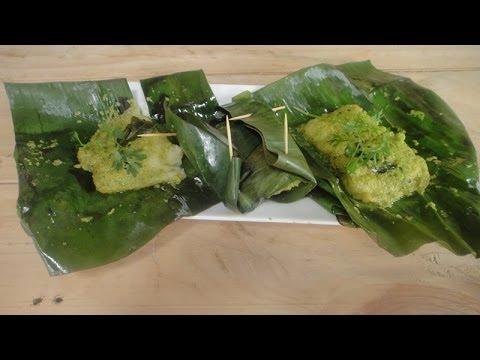 Green Masala Steamed Fish Sanjeev Kapoor Khazana Youtube