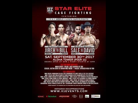 X1#48.5 Star Elite Combat Sept 30 2017 Full Fight : Hawaii MMA