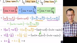 Curves with Multiple Crossings (5 of 5: Integrating trigonometric functions)