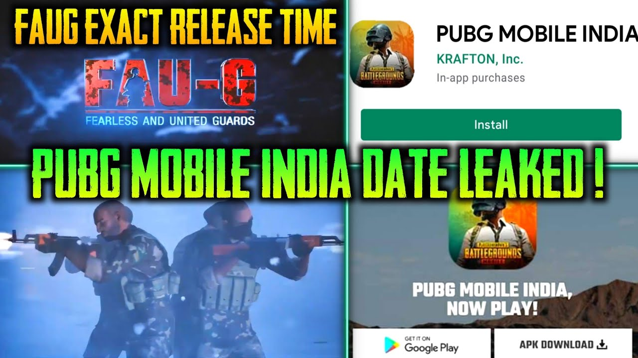 FAUG EXACT RELEASE TIME | FAUG FULL GAMEPLAY | PUBG MOBILE INDIA RELEASE DATE LEAKED !