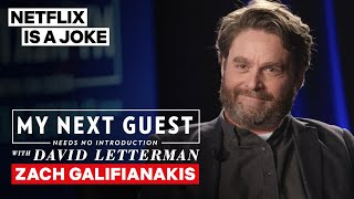 Zach Galifianakis Tells David Letterman He's Been Pranking His Brother For Years | Netflix Is A Joke