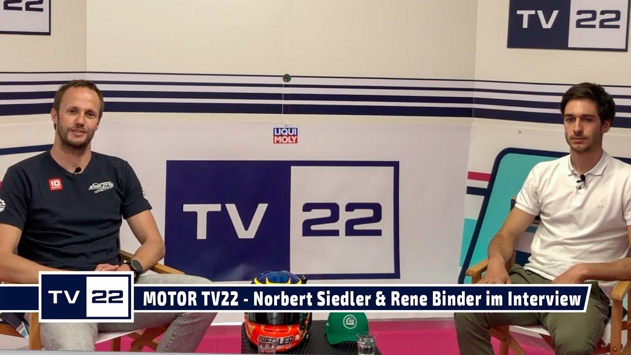 MOTOR TV22: Rennfahrer Norbert Siedler und Rene Binder im Studio Interview