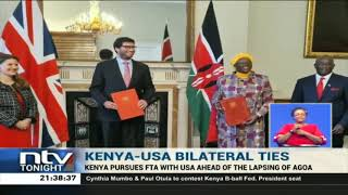 Kenya pursues FTA with USA ahead of the lapsing of AGOA