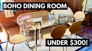Boho Dining Room Tour - 100% Thrifted UNDER $300