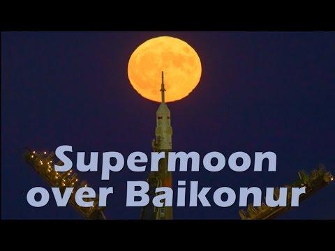 Supermoon over Baikonur
