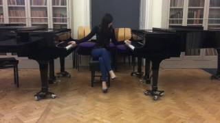 Play 2 pianos at the same time:)