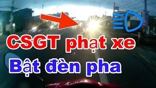 CSGT truy quét xe độ BẬT ĐÈN PHA - ĐÈN TRỢ SÁNG phượt Đà Lạt | RinRin |