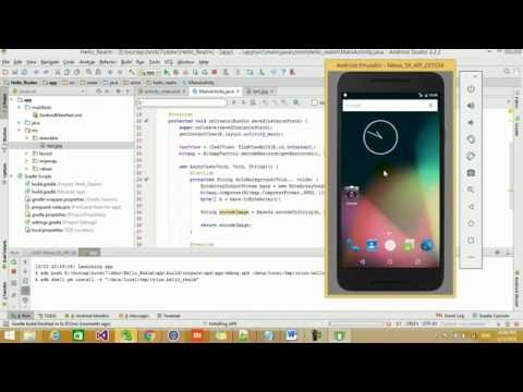 Covert a Bitmap to Base64 String Android, Java - YouTube
