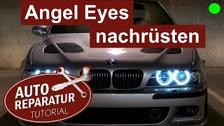 BMW E39 ANGEL EYES einbauen | Facelift Scheinwerfer nachrüsen | Auto Tutorial