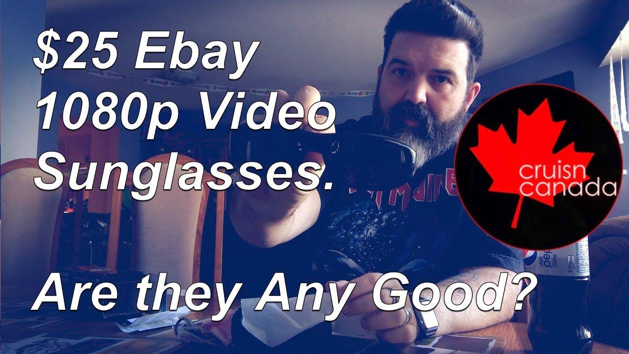 07b5809e990f Ebay 1080p Hidden Camera SunGlasses Wearable Video Camcorder 2018 Test