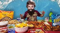 EATING 10,000+ CALORIES OF MY FAVOURITE THINGS CHALLENGE | BeardMeatsFood