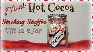 Mini Hot Cocoa Stocking Stuffer Gift-in-a-Jar