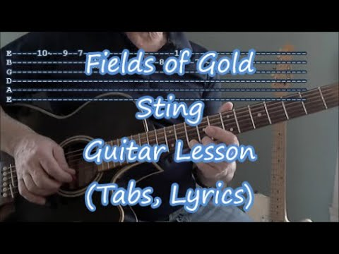 Fields Of Gold, Sting. Guitar Lesson(Tabs, Lyrics, And Solo)