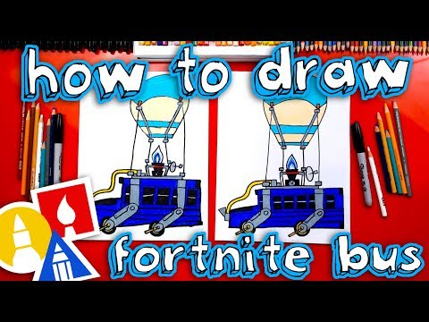 How To Draw The Fortnite Battle Bus Youtube