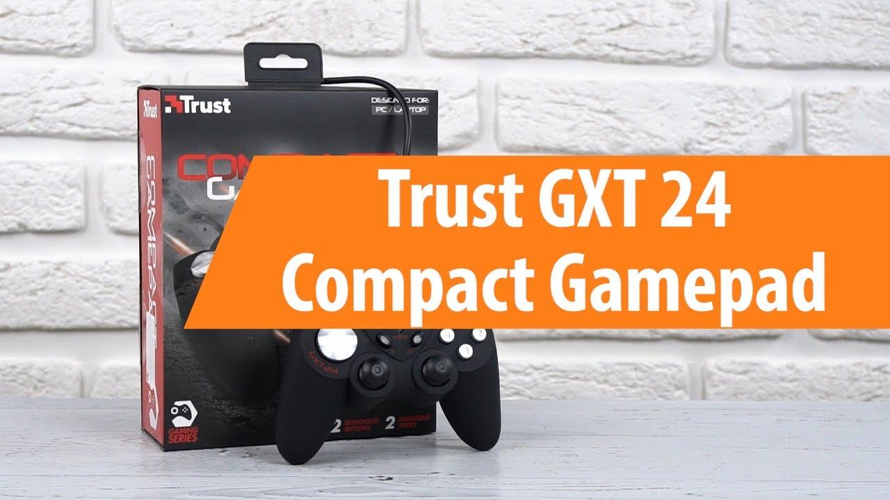 Распаковка Trust GXT 24 Compact Gamepad / Unboxing Trust GXT 24 Compact Gamepad