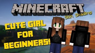 How to make a Cute Minecraft Girl Skin for BEGINNERS