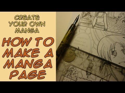 Create Your Own Manga - How to Make a Manga Page