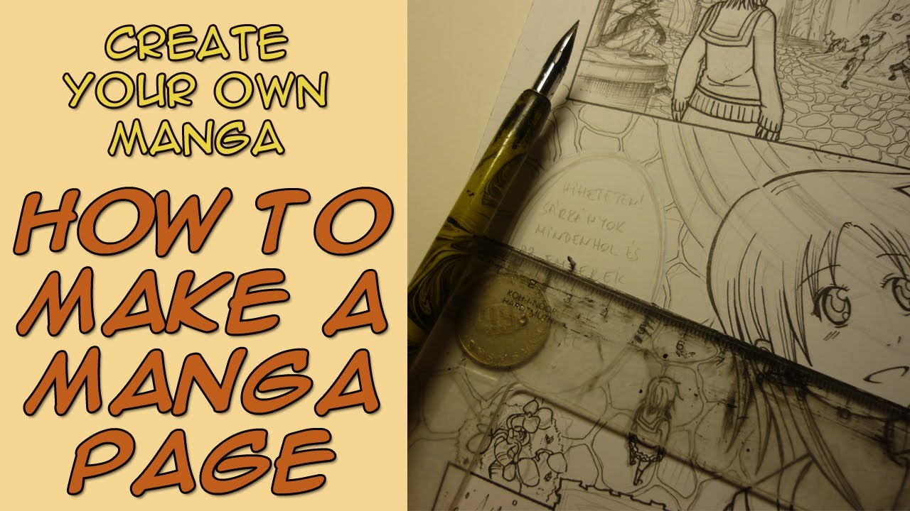 Create your own manga how to make a manga page youtube for Create your own building