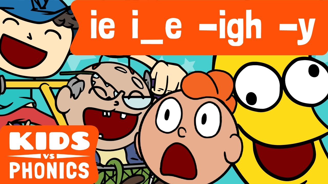 hight resolution of IE I-E -IGH -Y   Similar Sounds   Sounds Alike   How to Read   Made by Kids  vs Phonics - YouTube