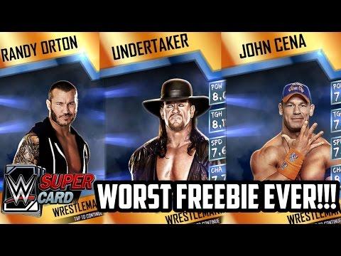 I GOT THE WORST WWE SUPERCARD FREEBIE!!! (#WWESupercard WM 33 FREEBIE)