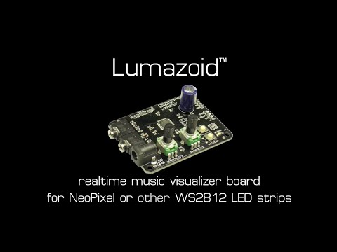 Lumazoid realtime music visualizer board for NeoPixel or other WS2812 LED strips