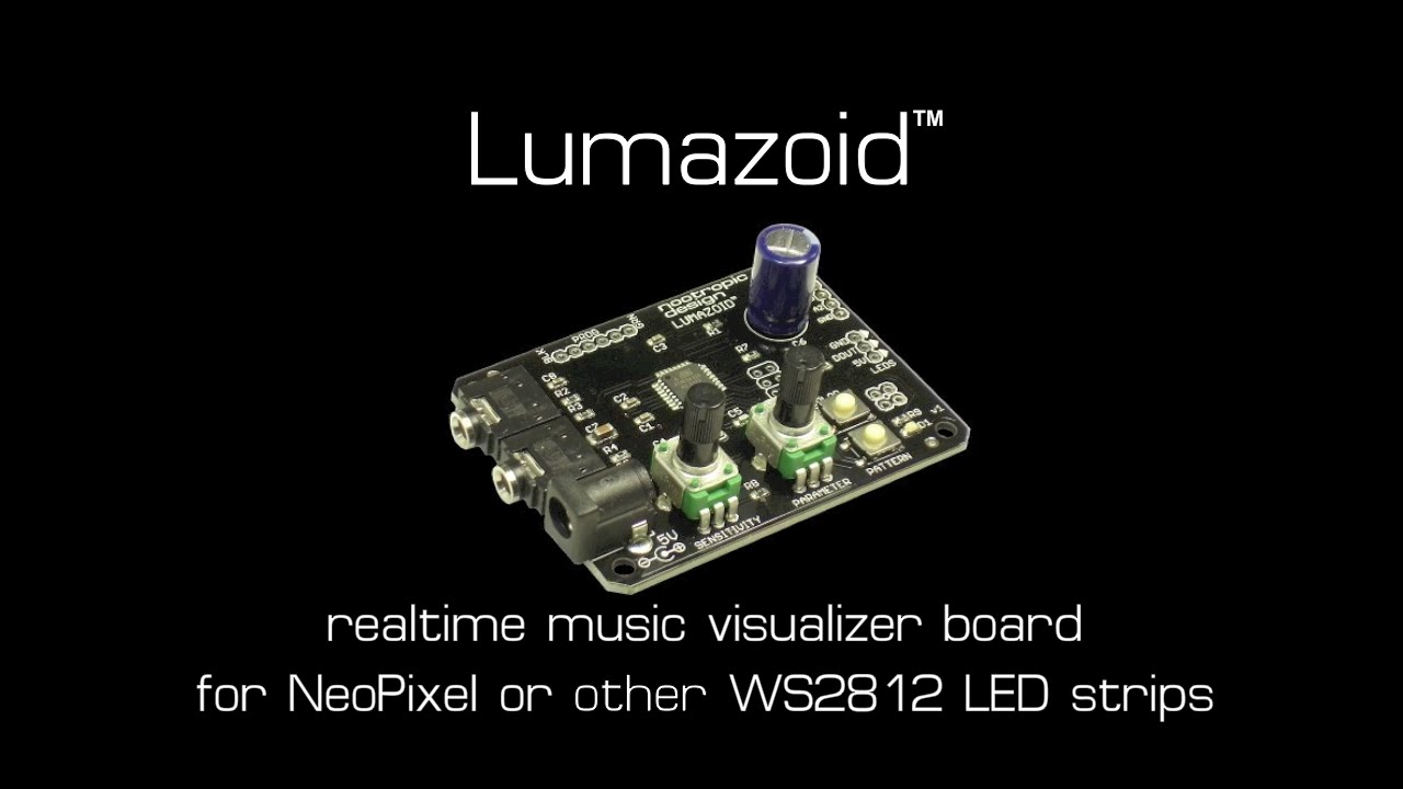 Nootropic Design Lumazoid Music Visualizer Board for WS2812 / WS2812B LED