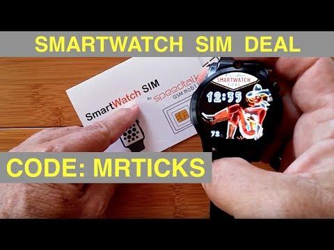 SpeedTalkMobile.com For Android Smartwatch SIM Calls/Data: Code