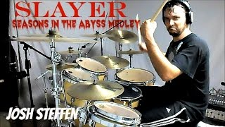 SLAYER - SEASONS MEDLEY (mobile link in description) - Drum Cover