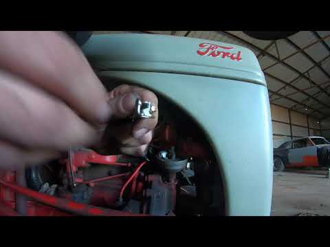 8n Ford Tractor Coil Point And Condenser Replacement