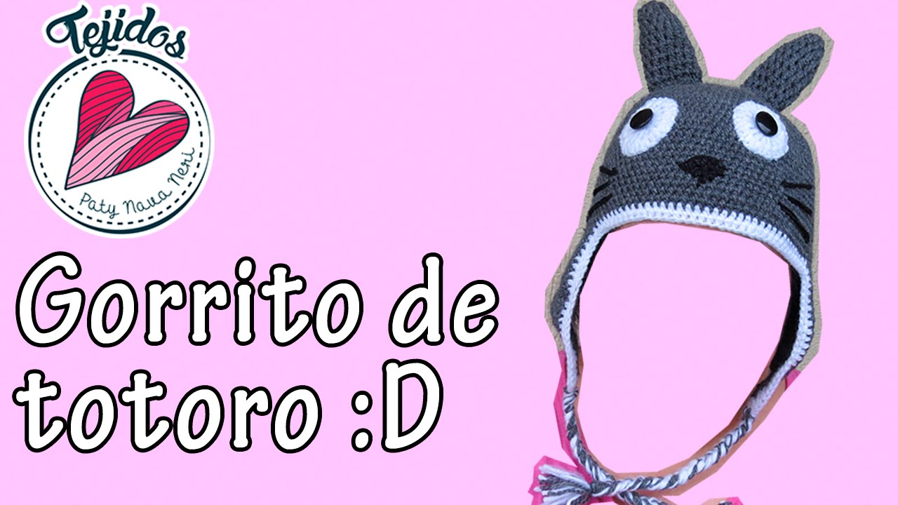 Gorro de Totoro tejido a crochet | Tutorial, Paty Nava Neri - YouTube