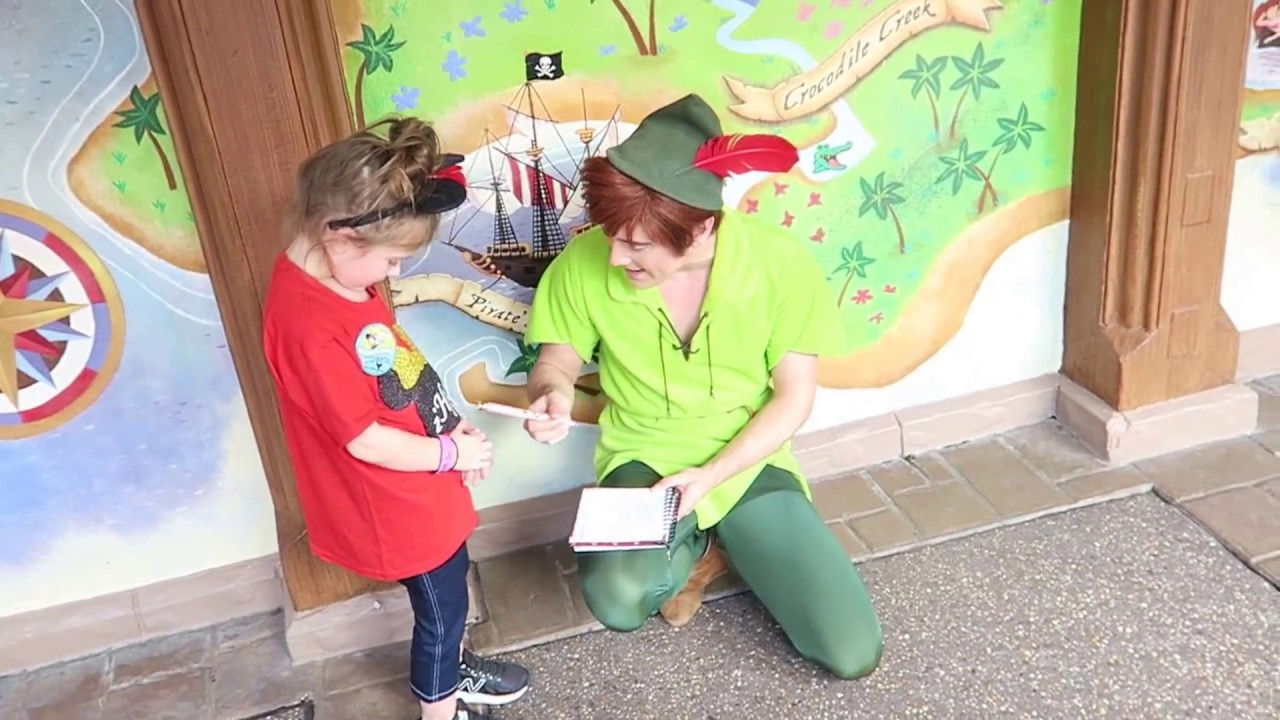 Disney world peter pan meeting at disney world magic kingdom disney world peter pan meeting at disney world magic kingdom meet and greet 2017 kristyandbryce Image collections
