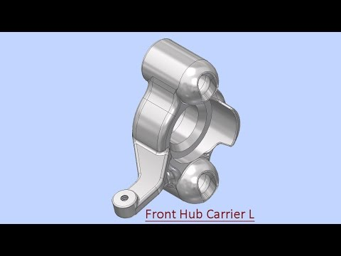 Front Hub Carrier L (Video Tutorial) Autodesk Inventor