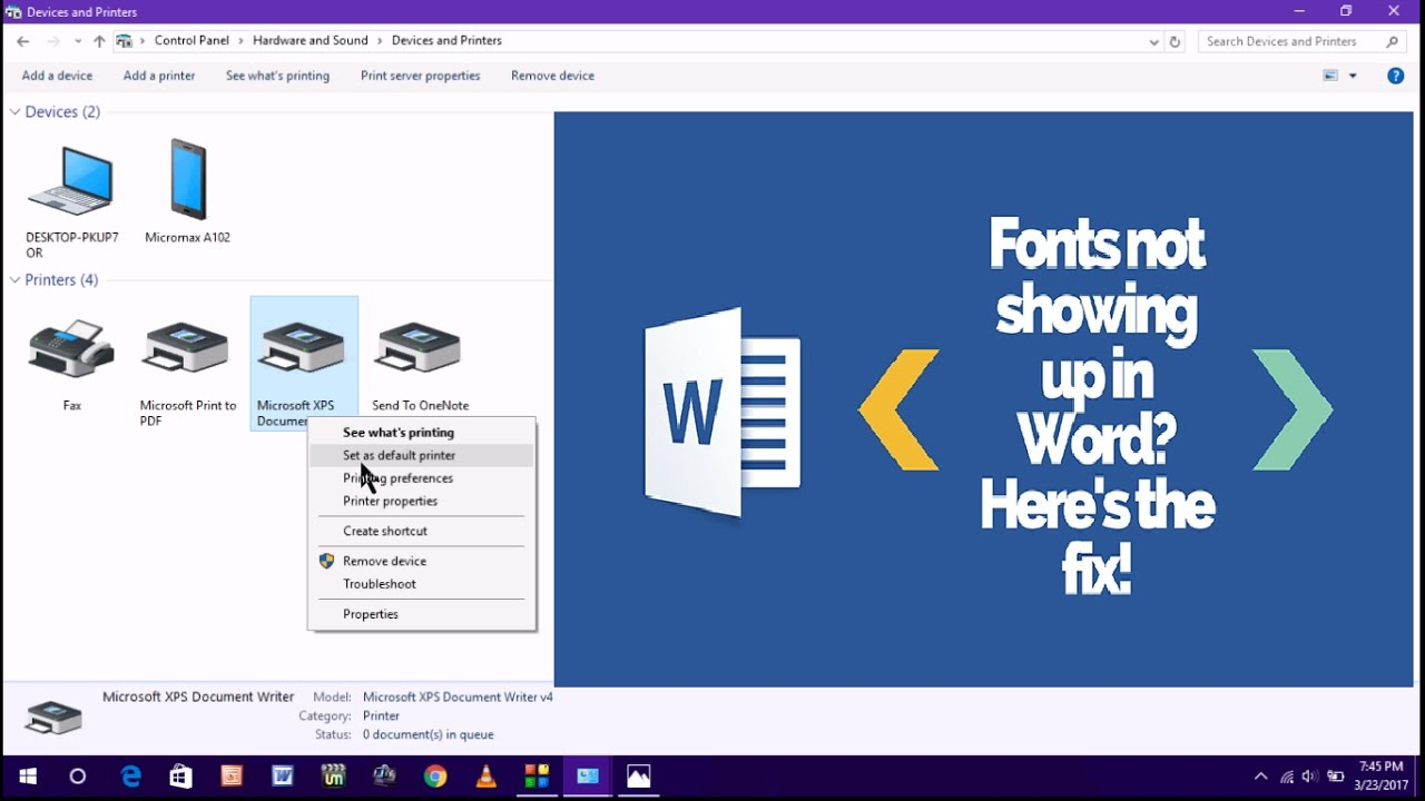 How to Fix Fonts Not Showing Up In Ms Word in Windows PC