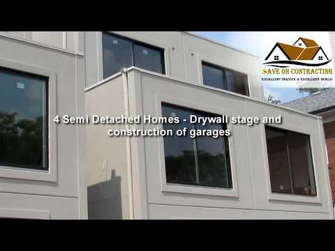 4 Semi Detached Homes - drywall stage and construction of garages
